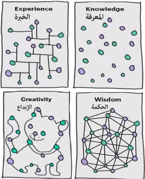 المعرفة والخبرة والإبداع والحكمة في صورة