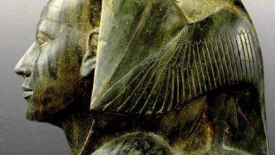 تمثال خفرع والديوريت الاخضر